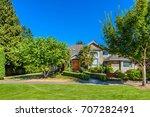 luxury house in vancouver ... | Shutterstock . vector #707282491