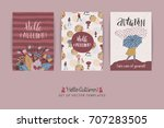 set of artistic creative autumn ... | Shutterstock .eps vector #707283505