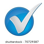 check mark in a blue circle | Shutterstock .eps vector #70729387