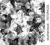 fantastic floral pattern. black ...   Shutterstock . vector #707294131