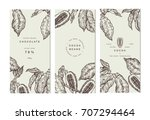 cocoa bean tree banner... | Shutterstock .eps vector #707294464