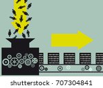 conceptual illustration of a... | Shutterstock .eps vector #707304841
