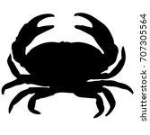 crab silhouette | Shutterstock .eps vector #707305564