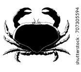 crab silhouette | Shutterstock .eps vector #707305594