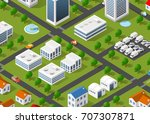 illustration of the urban... | Shutterstock . vector #707307871