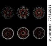geometric pattern symbols... | Shutterstock .eps vector #707310391