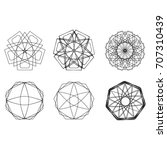 geometric pattern symbols... | Shutterstock .eps vector #707310439