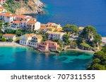 assos village  kefalonia island ... | Shutterstock . vector #707311555