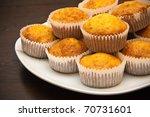 Close Up Golden Carrot Muffins...