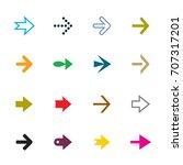 set of color vector arrows | Shutterstock .eps vector #707317201