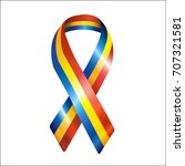 national romania day ribbon | Shutterstock .eps vector #707321581