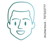 young man head avatar character | Shutterstock .eps vector #707323777