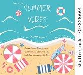summer vector illustration.... | Shutterstock .eps vector #707328664