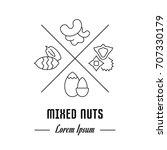 vector logo mixed nuts. emblem  ... | Shutterstock .eps vector #707330179