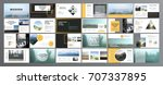 original presentation templates.... | Shutterstock .eps vector #707337895