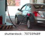 gas station car. | Shutterstock . vector #707339689