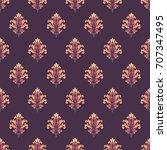 seamless damask pattern | Shutterstock . vector #707347495