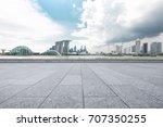 empty marble floor and... | Shutterstock . vector #707350255