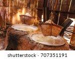 boil salt  lapping crystallized ...   Shutterstock . vector #707351191