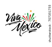 viva mexico  traditional... | Shutterstock .eps vector #707351755