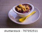acai  a a   bowl with granola....   Shutterstock . vector #707352511