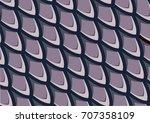 fish scale pattern  purple... | Shutterstock .eps vector #707358109