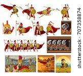 spartan soldiers | Shutterstock .eps vector #707358874
