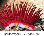headdress of indians with... | Shutterstock . vector #707363149