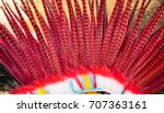 headdress of indians with... | Shutterstock . vector #707363161