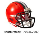 red or orange american football ... | Shutterstock . vector #707367907