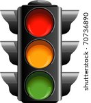 traffic lights | Shutterstock .eps vector #70736890