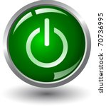 green glowing power on or off... | Shutterstock .eps vector #70736995