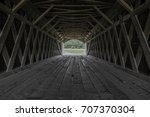 Inside Of A Covered Bridge...