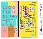 vector of colorful retro... | Shutterstock .eps vector #707371537