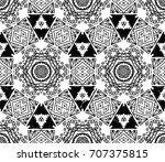 ethnic design. striped... | Shutterstock . vector #707375815