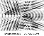 abstract halftone dotted grunge ... | Shutterstock .eps vector #707378695