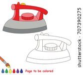 iron to be colored  the... | Shutterstock .eps vector #707390275