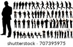 isolated  a set of men  a... | Shutterstock . vector #707395975