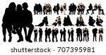 isolated  set family ... | Shutterstock . vector #707395981