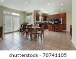 Large Kitchen With Redwood...