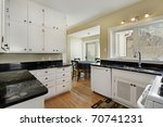 kitchen in suburban home with... | Shutterstock . vector #70741231