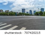 empty asphalt road front of... | Shutterstock . vector #707420215