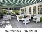 patio in luxury home with green ... | Shutterstock . vector #70742170