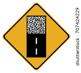 canadian road warning sign  ... | Shutterstock .eps vector #707424229