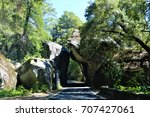 natural background  arch rock... | Shutterstock . vector #707427061