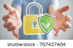 businessman on blurred... | Shutterstock . vector #707427604