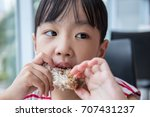 asian chinese little girl... | Shutterstock . vector #707431237