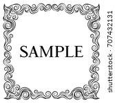 vector frame. calligraphic... | Shutterstock .eps vector #707432131