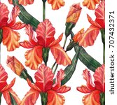 seamless floral background in... | Shutterstock . vector #707432371