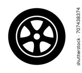 car  vehicle or automobile tire ... | Shutterstock .eps vector #707438374